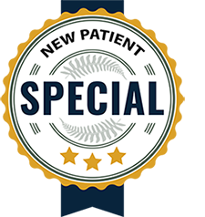 "Promotional coupon with ""New Patient Special"" on it"