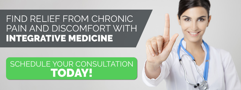 Call to action button with an integrative medicine doctor.