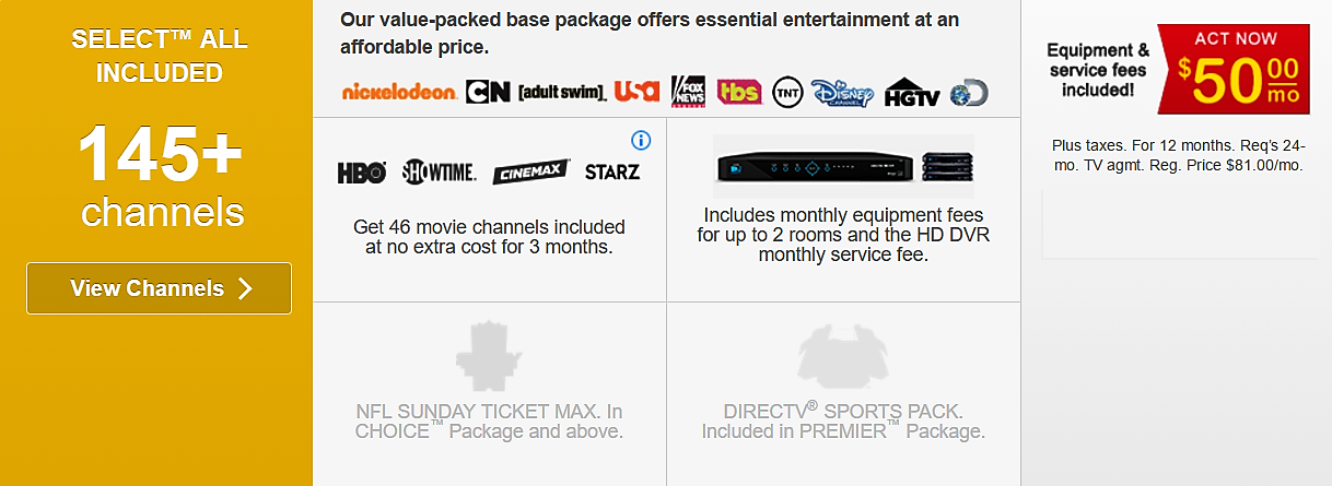 Directv Select | Advanced Satelites