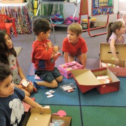 Kindergarten Class in Orange, CA-Class Valentine's Day-Adventures In Learning