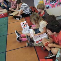 Kindergarten Class in Orange, CA-Valentine's Day Card Opening-Adventures In Learning