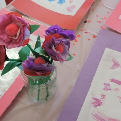 Child Development Center-Paper Flowers-Adventures In Learning