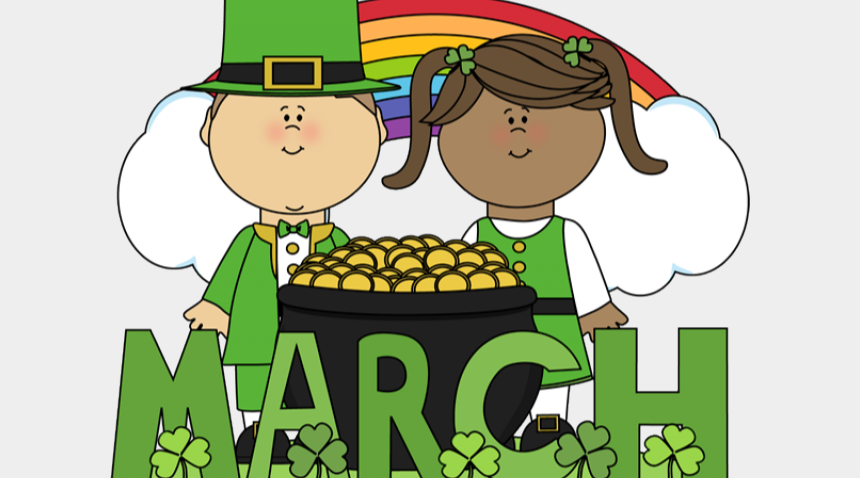 cute kids illustration for st pattys day