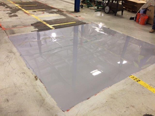 Commercial flooring contractors Aetna Integrated Services install epoxy flooring