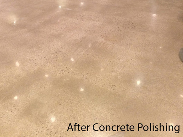 Industrial flooring after concrete polishing by Aetna Integrated Services