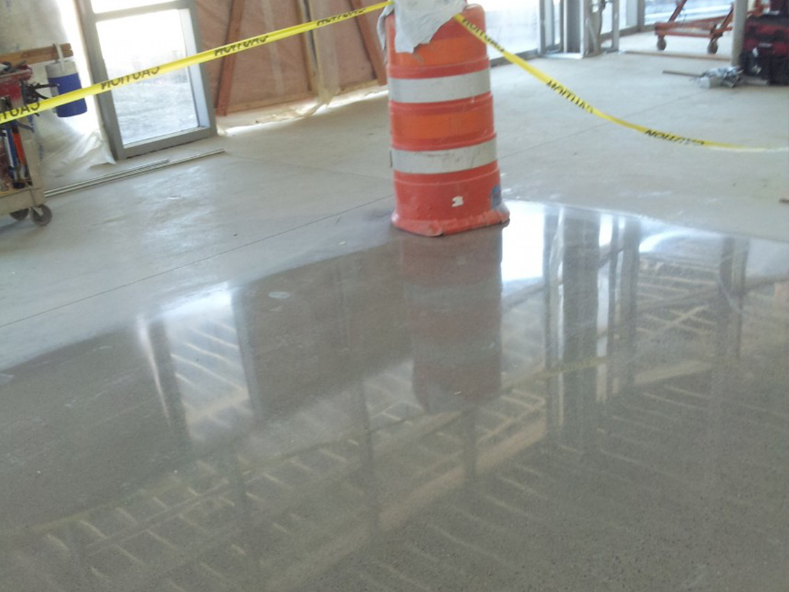 Aetna Integrated Services' epoxy floor coating drying