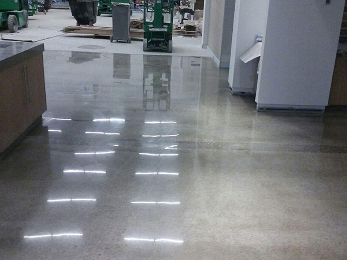 Industrial facility has epoxy floor coating installed
