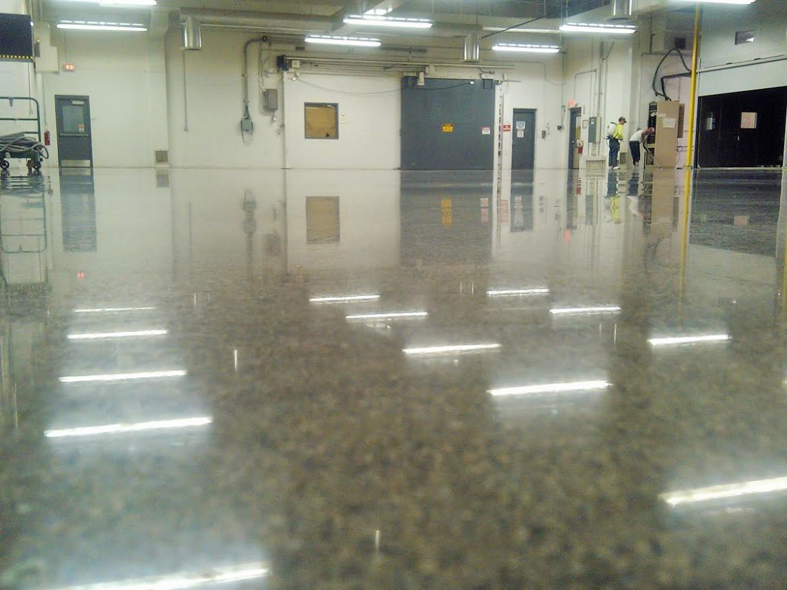 Industrial epoxy floors with Aetna Integrated Services