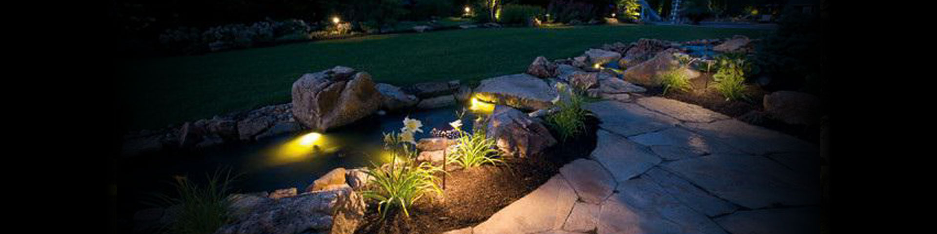 landscape lighting job done by affordable irrigation tulsa