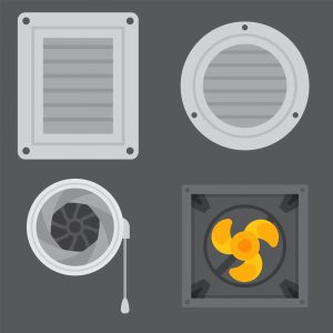 Image of various fans and air ducts