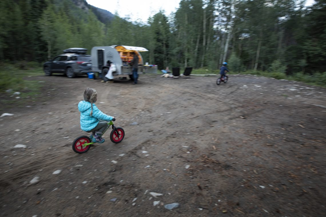Camp fun on bikes