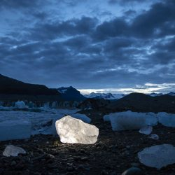 Glacier ice in Wrangell St. Elias