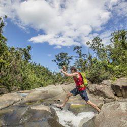 Natural Rock Slides El Yunque
