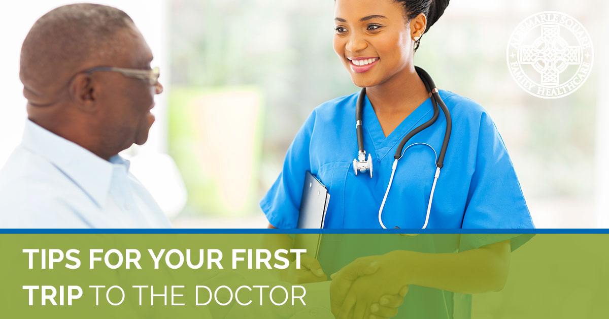 Get helpful tips for your first trip to the doctor from Albemarle