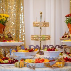 Dessert table with fruits at our reception hall - Alegria Gardens