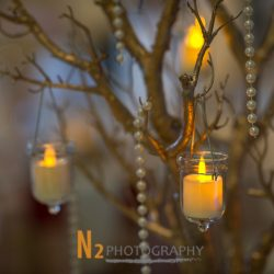 Hanging candles at our reception hall - Alegria Gardens