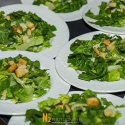 Prepared salads at our reception hall - Alegria Gardens