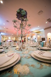 Table display with center piece at our reception hall - Alegria Gardens