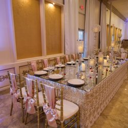 Large dinner table at our wedding hall - Alegria Gardens
