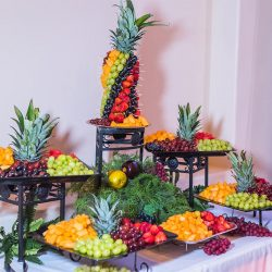 Beautiful fruit display at our reception hall - Alegria Gardens