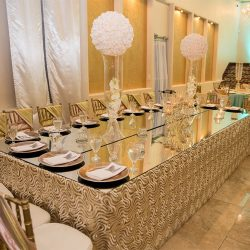 Large head table at our wedding venue - Alegria Gardens