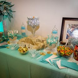 Candy buffet at our wedding venue - Alegria Gardens