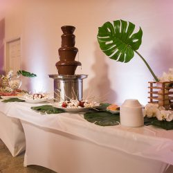 Fondue display at our wedding venue - Alegria Gardens