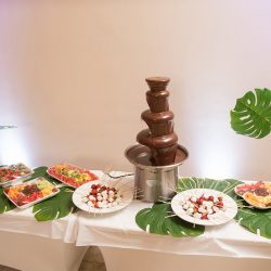Fondue with fruit and candy at our reception hall - Alegria Gardens