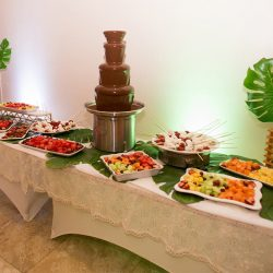 Large fondue display at our reception hall - Alegria Gardens