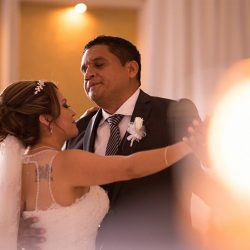 Couple's first dance at our reception hall - Alegria Gardens