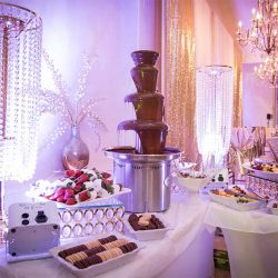 Dessert table at our reception hall - Alegria Gardens