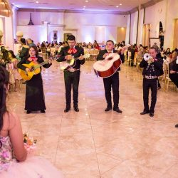 A mariachi band playing at our wedding venue - Alegria Gardens