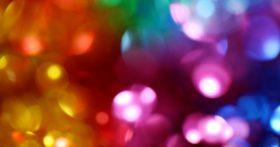 Fuzzy multicolored lights