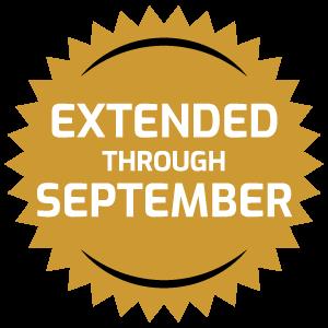 extended through September badge