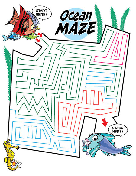 Ocean Maze activity sheet