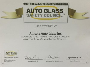 autoglass safety council certificate