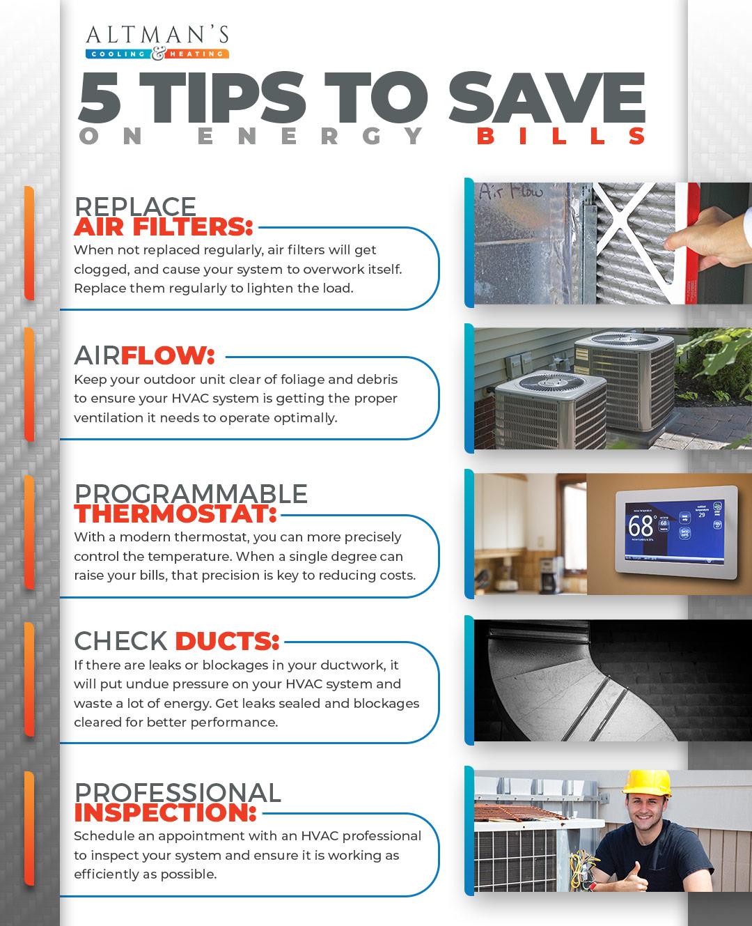 Energy Efficient Hvac 5 Tips To Save On Energy Bills Altman S