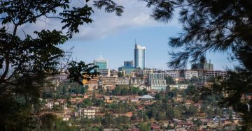 Image of Kigali skyline.