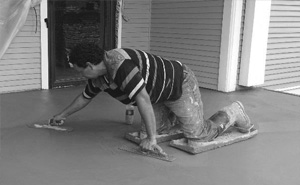 Contractor Smoothing Concrete