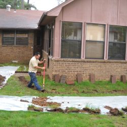 Installing a French Drain Around Home Perimeter
