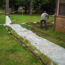 Installing a French Drain Around Home Foundation