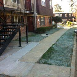 Sidewalk After Drainage Pipe Installation