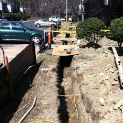 French Drain Installation at Rental Property