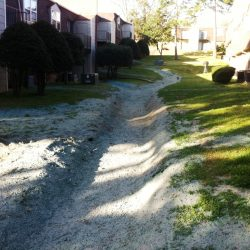 Cement on Passive Drainage Trenches