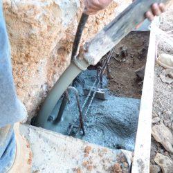 Pouring New Concrete Foundation