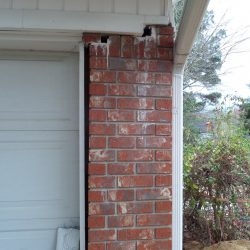 Cracked, Shifted Brick of Home Exterior