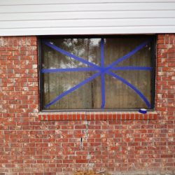 Window Protection for Foundation Repair