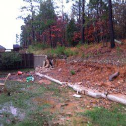 Water Damaged Retaining Wall