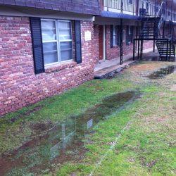 Water Pooling Near Rental Property