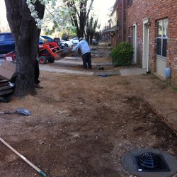 Installing Drainage System on Rental Property